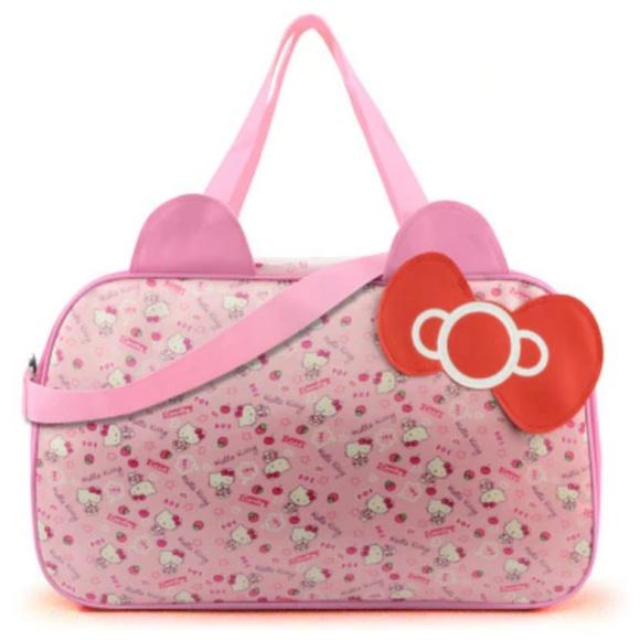 187ea2920381 Hello Kitty Large Pink Tote Travel Gym Bag
